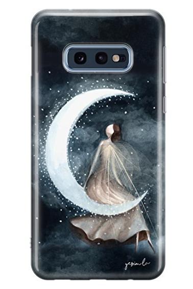 Lopard Samsung Galaxy S10E Kılıf Ay Peri Kapak Renkli